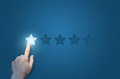 One star. Negative feedback background design Royalty Free Stock Photos
