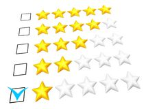 One star rating Stock Photos