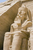 One Statue. Abu Simbel temples, Egypt,Africa stock image