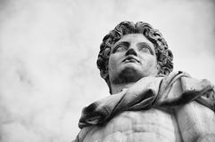 Rome, Statue in Campidoglio. One of the statues of dioscuri in Campidoglio square, Rome Royalty Free Stock Photos