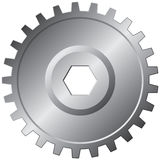 One steel gear - vector Royalty Free Stock Images