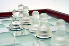One step ahead. Chess Royalty Free Stock Photography