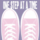 One step at a time Stock Image