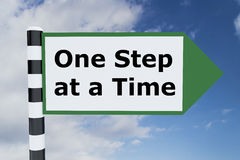 One Step at a Time concept Stock Photos