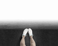 One step to gap Royalty Free Stock Photo
