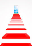 One step to a new life stock illustration