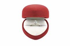 One Stone Diamond Engagement Ring Stock Images
