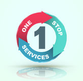 One stop services icon. Vector illustration Royalty Free Stock Images