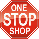 One Stop Shop Sign Symbol Stock Photos