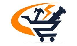 One Stop Shopping stock illustration
