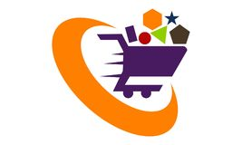 One Stop Shopping vector illustration