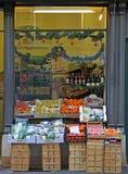 One of stores in Bergamo, Italy. Bergamo, Italy - December 1, 2015: someone left stall with fruits in Bergamo, Italy Royalty Free Stock Image