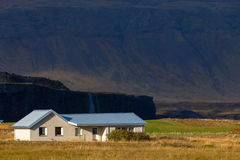 One-storey rural house in Iceland Stock Images