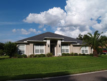 One Story Florida Stucco Home Stock Photos