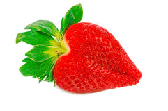 One Strawberry Heart Stock Photos
