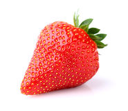 One strawberry Stock Photo