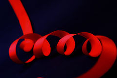 One streaming tapes a red Stock Images