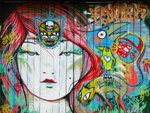 One of the street arts in Bogota. Colombia stock photography