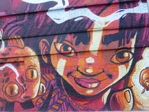 One of the street arts in Bogota. Colombia royalty free stock photo