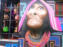 One of the street arts in Bogota Stock Photos