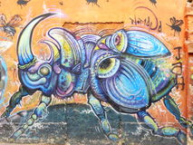 One of the street arts in Bogota. Colombia stock photos