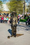 One of the street dressed up performers near Jubilee gardens and London Eye observation wheel Royalty Free Stock Photography