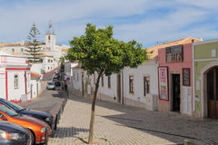 One of the street in historic center of Albufeira, Portugal Stock Photos