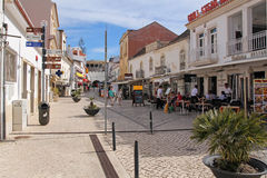 One of the street in historic center of Albufeira, Portugal Royalty Free Stock Photography