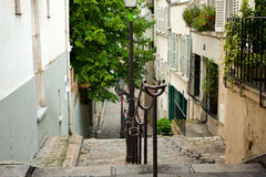 One of the street in Monmarte, Paris, France Royalty Free Stock Images