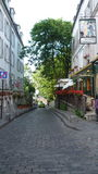 One street in Montmartre. District, Paris,France, Juin,28th, 2009 Royalty Free Stock Photography