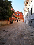 One of Street in Venice , Italy stock photography