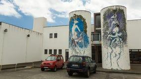 One of streets in center of Ponta Delgada. Stock Image