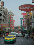 One of streets in chinese quarter, Bangkok Royalty Free Stock Image