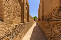 One of streets city of the dead, memorial complex Chor-Bakr in Bukhara, Uzbekistan. Stock Photos