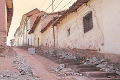 One of the streets in the old town of Cusco. Royalty Free Stock Photos