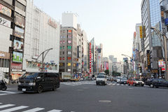 One of the streets of Ueno district Royalty Free Stock Images