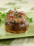 One Stuffed Mushroom Stock Images