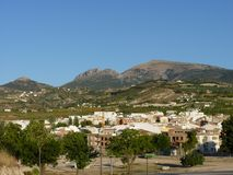 One summer day in Torredelcampo, Jaen, Andalusia, Spain royalty free stock photo
