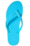 One summer sandal turquoise color on a white background Stock Images