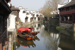 One sunny day of Yuehe Old Street(Jiaxing,zhejiang,china) Royalty Free Stock Photo