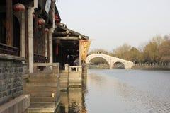 One sunny day of Yuehe Old Street(Jiaxing,zhejiang,china) Stock Photo