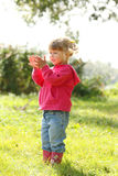 One sweet beautiful little girl on nature Stock Photography