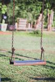 One swing in the school royalty free stock photos