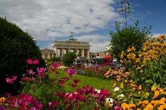 The Brandenburg Gate in Berlin. stock photo
