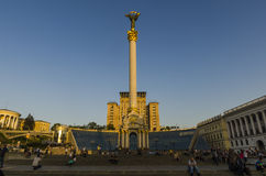 One of the symbols of Kiev Independence Square (Maidan Nezalezhnosti) in the center of the city Royalty Free Stock Images