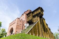 One of the symbols of Kiev-old golden gates Royalty Free Stock Images