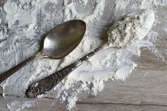 One tablespoon of flour. Stock Photography