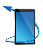 One tablet pc that shows the concept of internet Royalty Free Stock Image