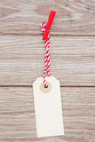 One tag hanging on rope Stock Images