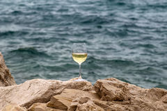 One tall wine glass Royalty Free Stock Images